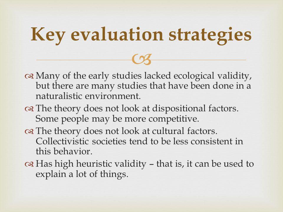 Key evaluation strategies