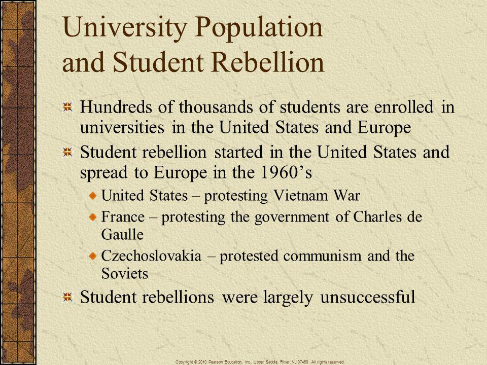University Population and Student Rebellion