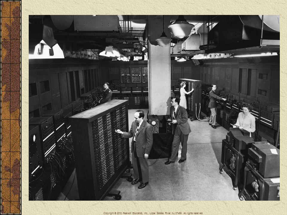 The earliest computers were very large. Here in a 1946 photograph J