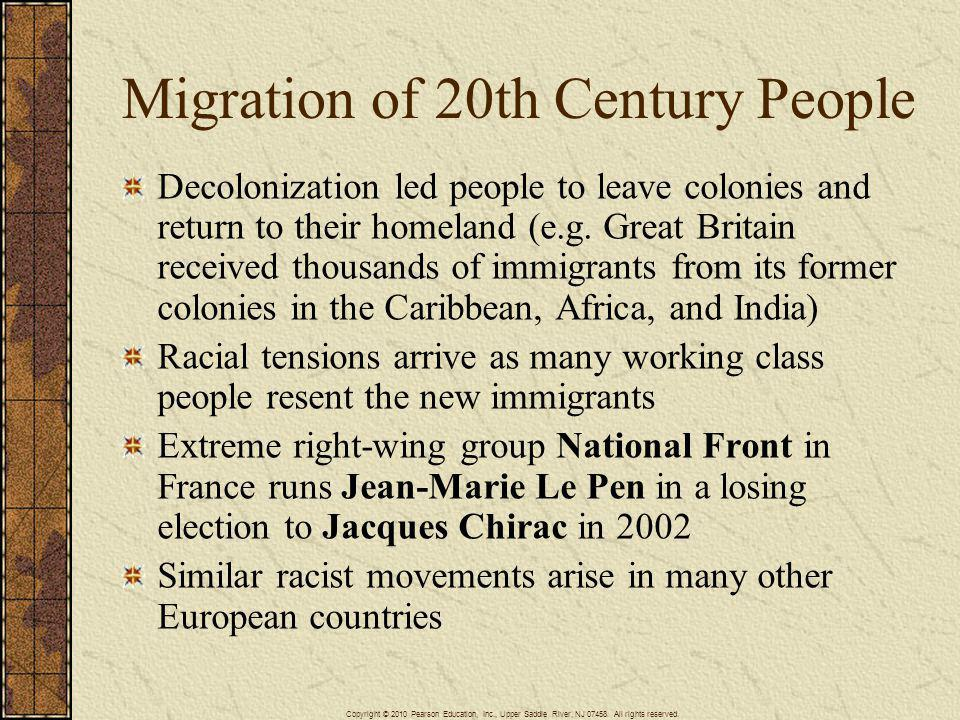 Migration of 20th Century People