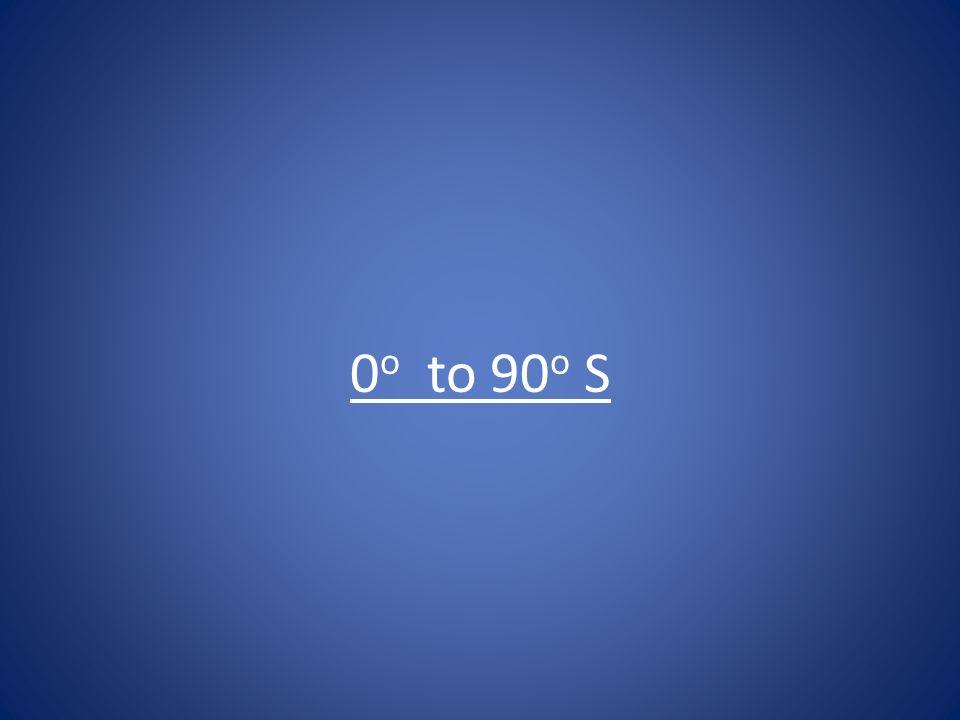 0o to 90o S