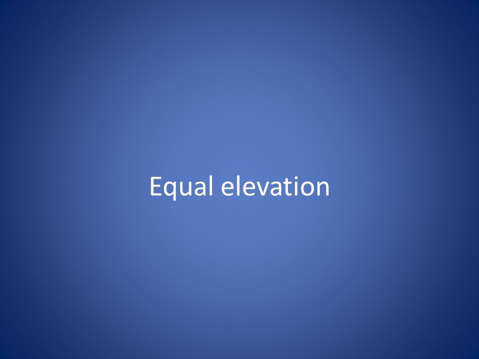Equal elevation
