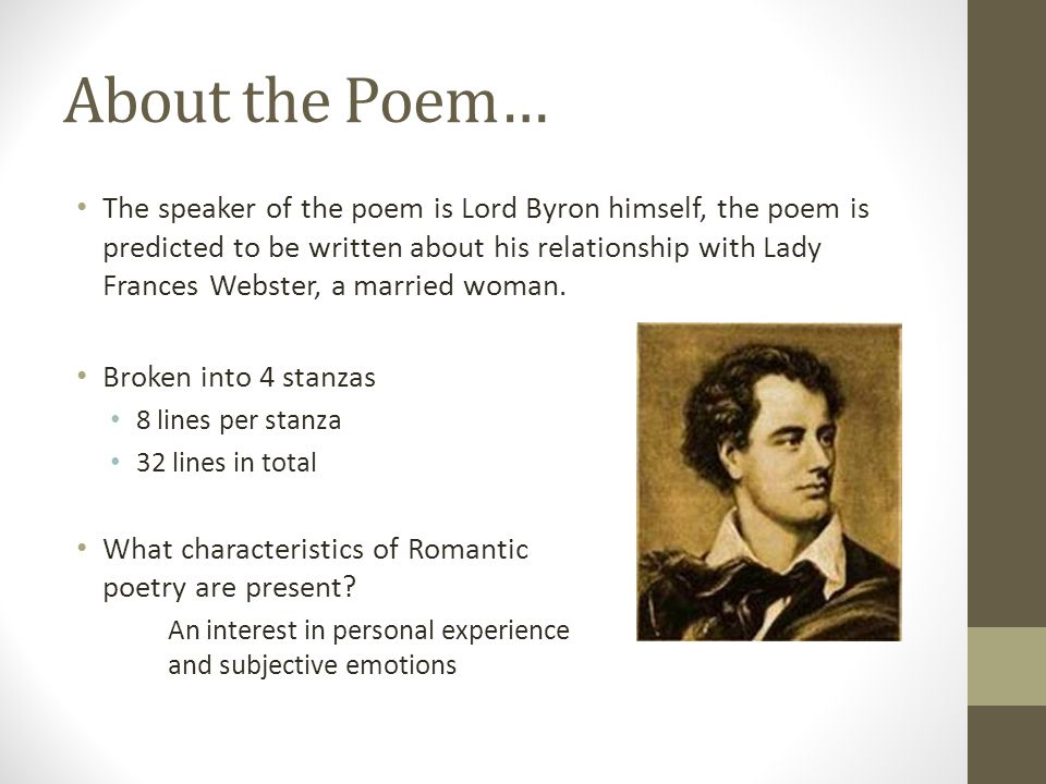 About the Poem…