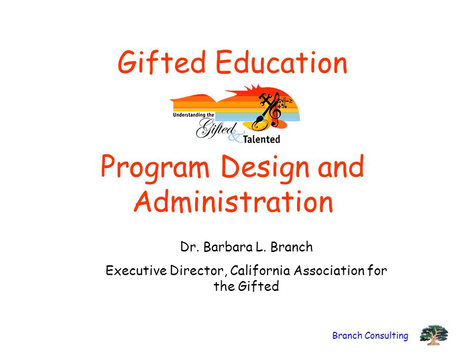 Gifted Education Program Design and Administration