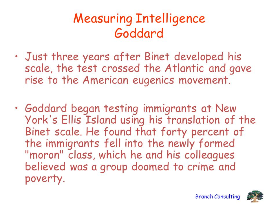 Measuring Intelligence Goddard