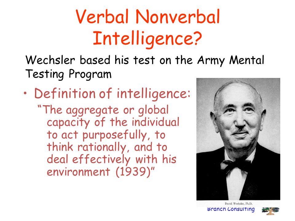 Verbal Nonverbal Intelligence