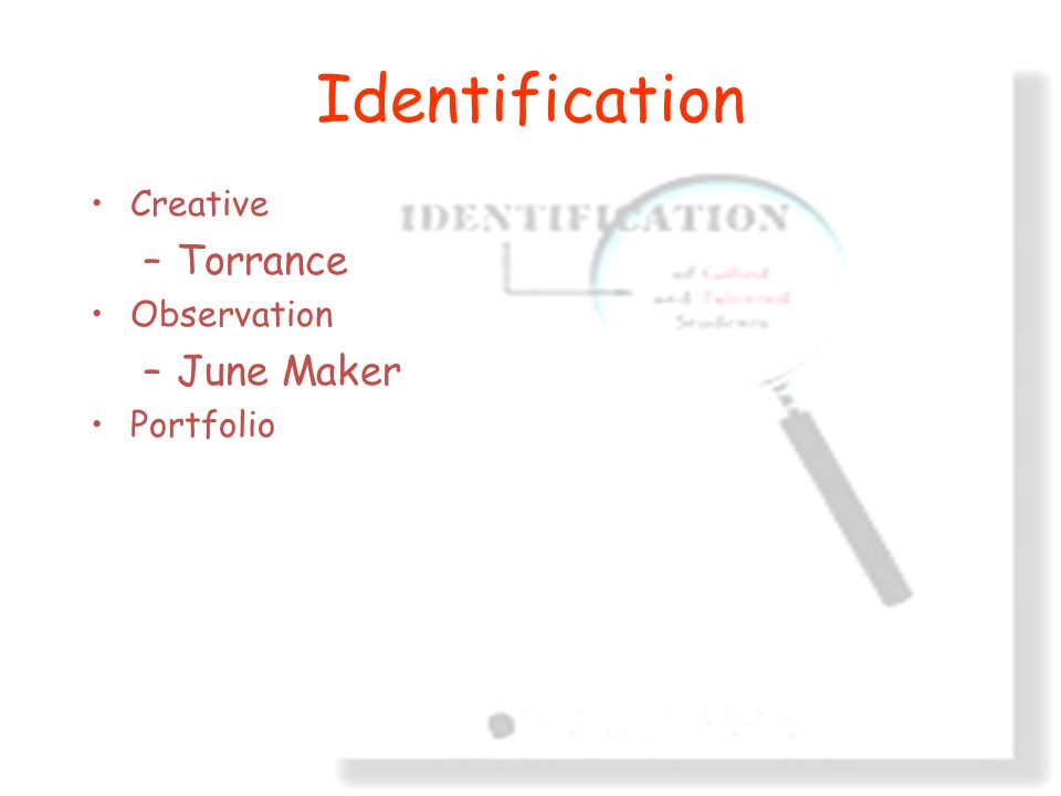 Identification Creative Torrance Observation June Maker Portfolio