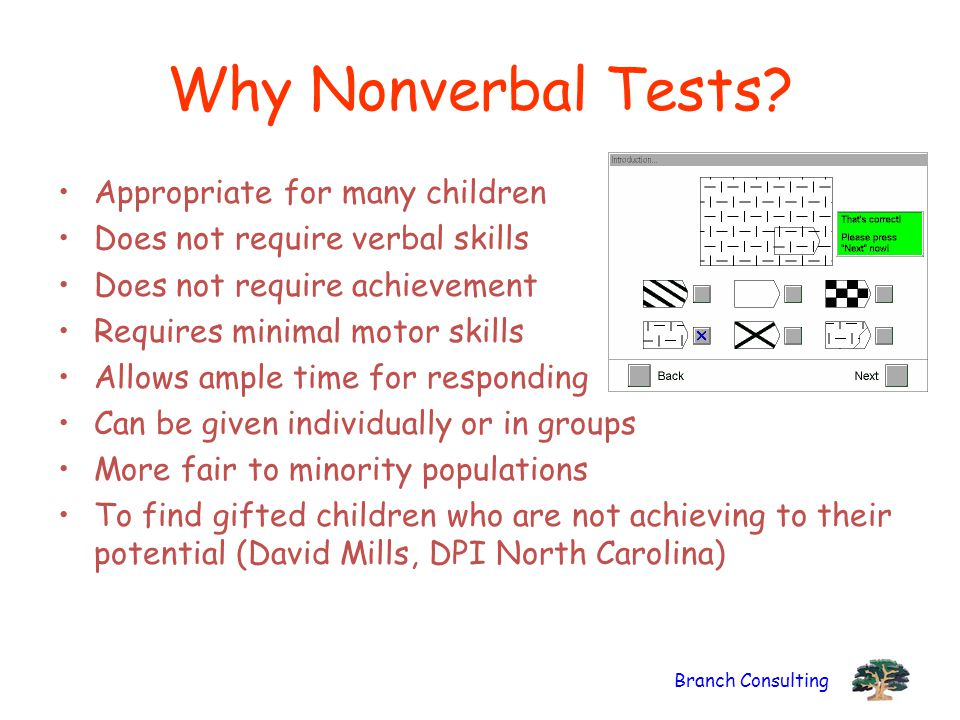 Why Nonverbal Tests Appropriate for many children