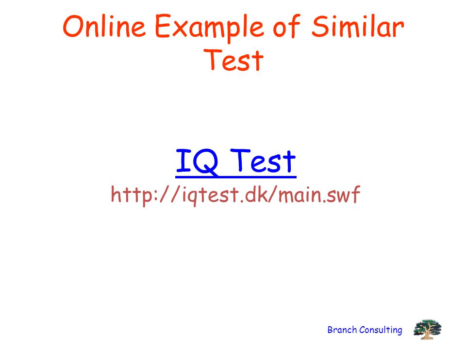 Online Example of Similar Test