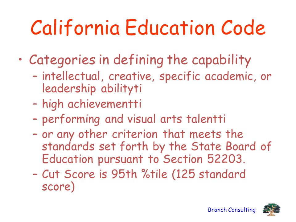 California Education Code