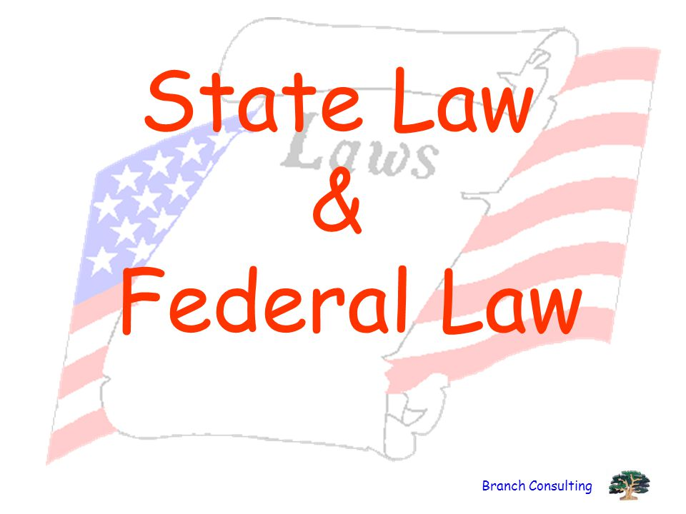 State Law & Federal Law