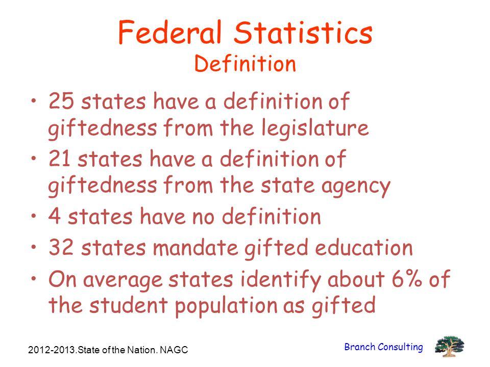 Federal Statistics Definition