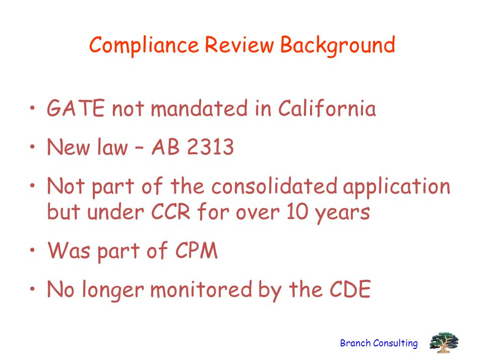 Compliance Review Background