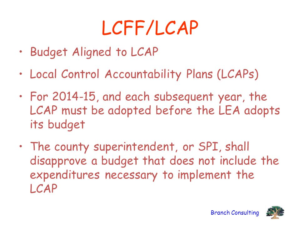 LCFF/LCAP Budget Aligned to LCAP