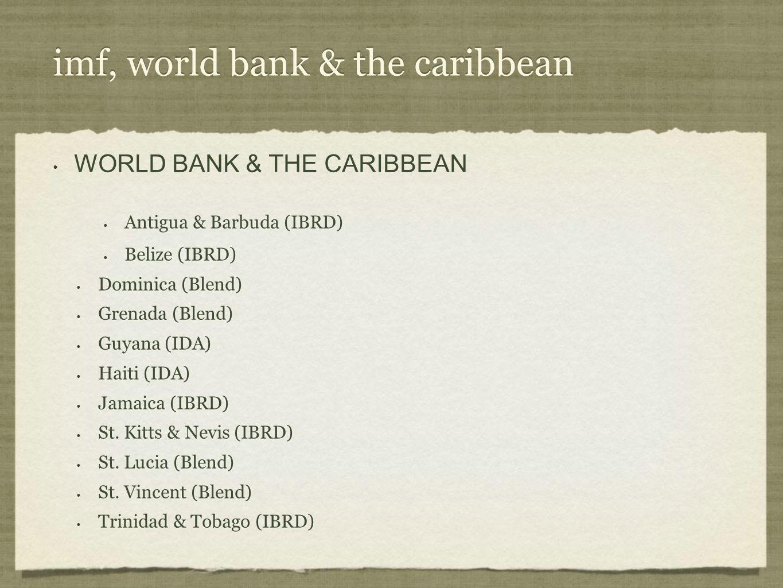imf, world bank & the caribbean