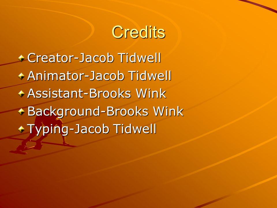 Credits Creator-Jacob Tidwell Animator-Jacob Tidwell