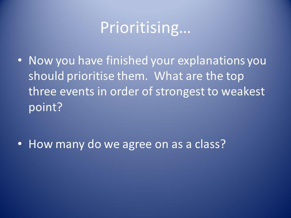 Prioritising…