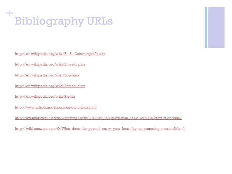 Bibliography URLs