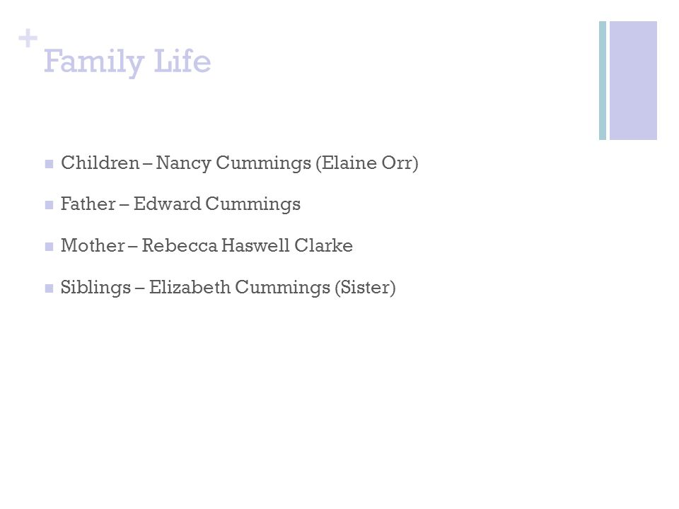 Family Life Children – Nancy Cummings (Elaine Orr)