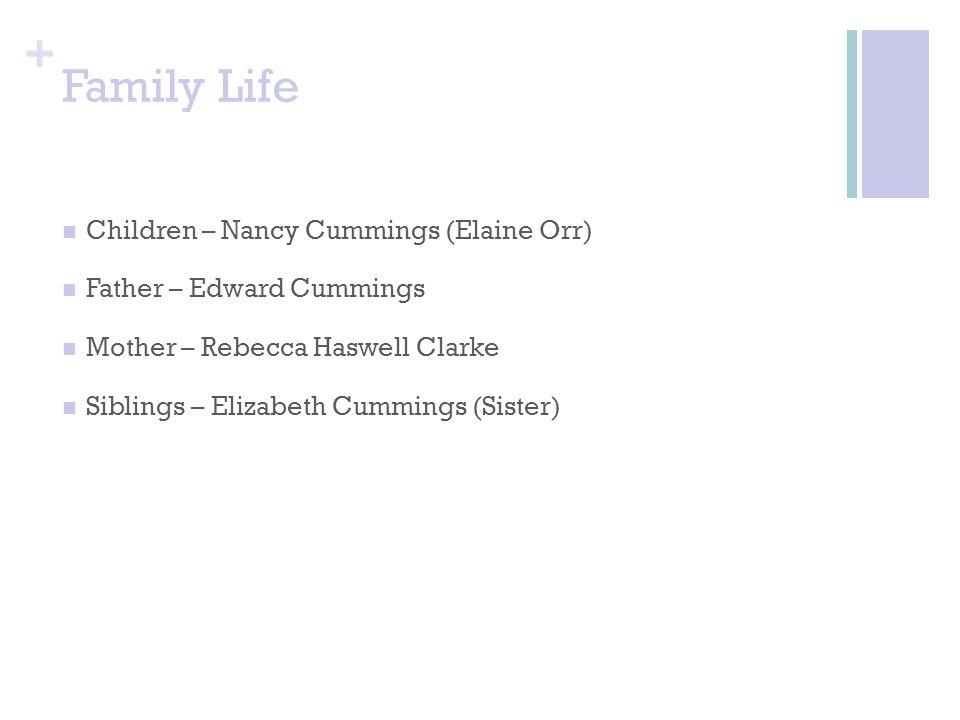 Family Life Children – Nancy Cummings (Elaine Orr)