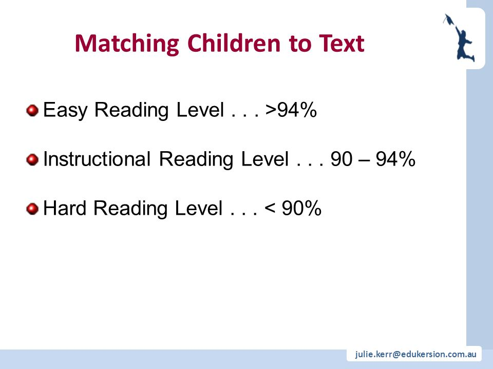 Matching Children to Text