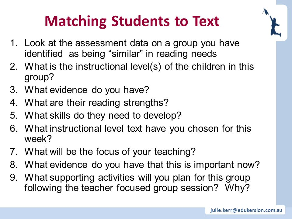 Matching Students to Text