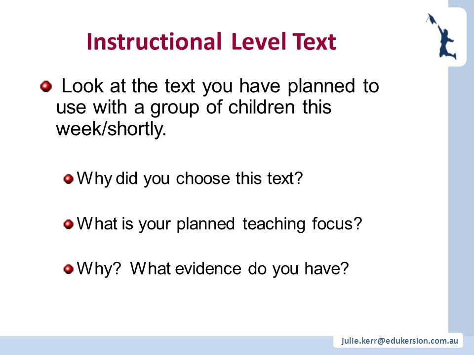 Instructional Level Text