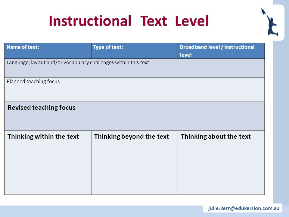 Instructional Text Level