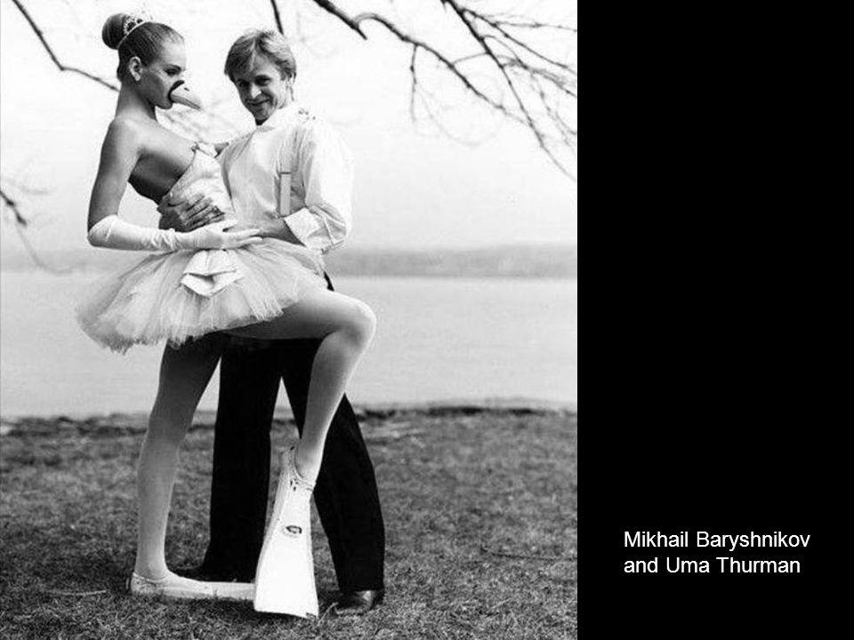 Mikhail Baryshnikov and Uma Thurman