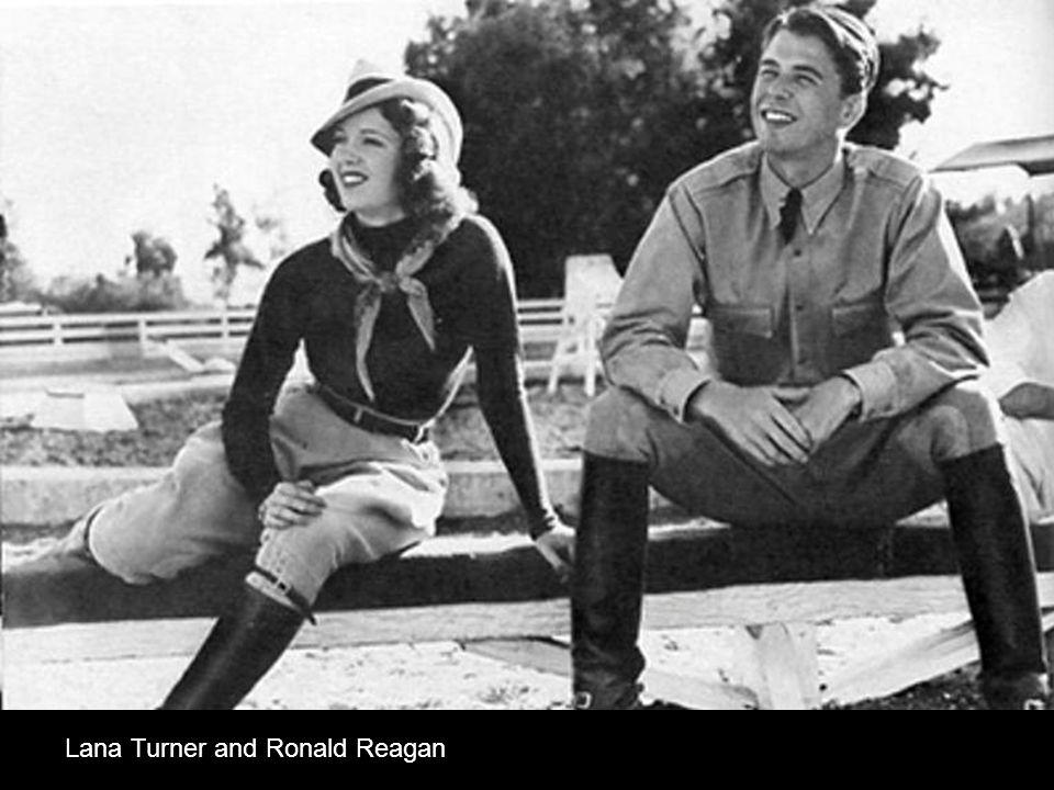 Lana Turner and Ronald Reagan
