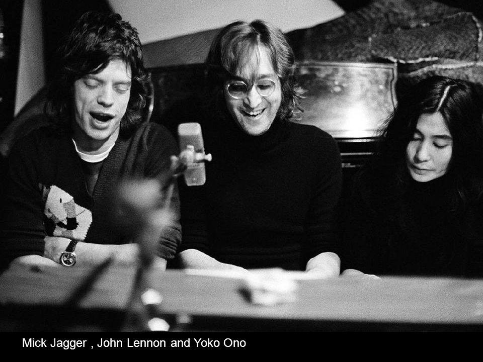 Mick Jagger , John Lennon and Yoko Ono