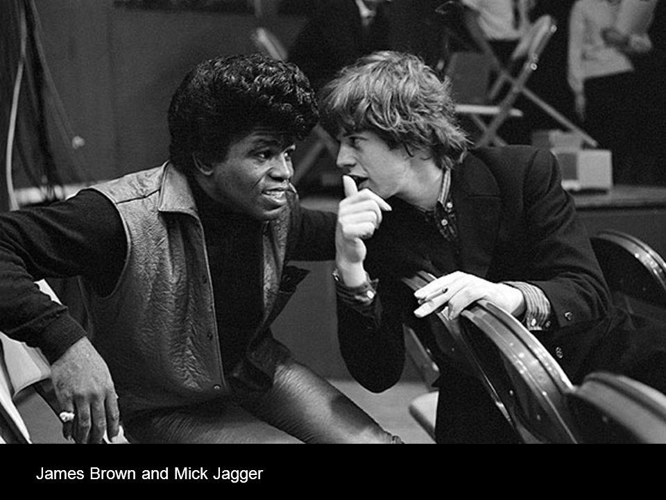 James Brown and Mick Jagger