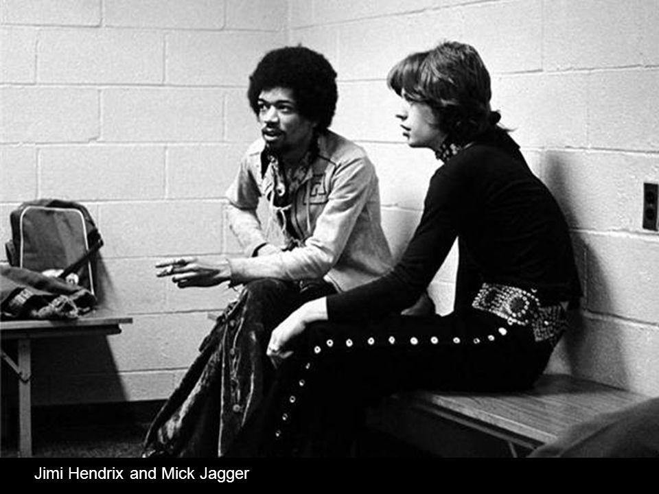 Jimi Hendrix and Mick Jagger