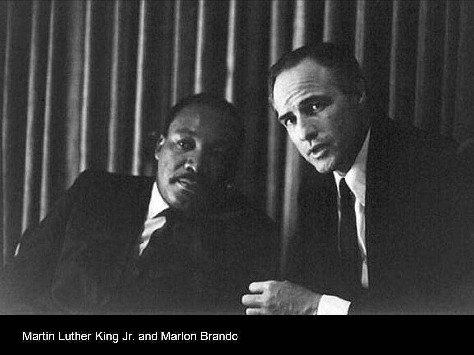 Martin Luther King Jr. and Marlon Brando