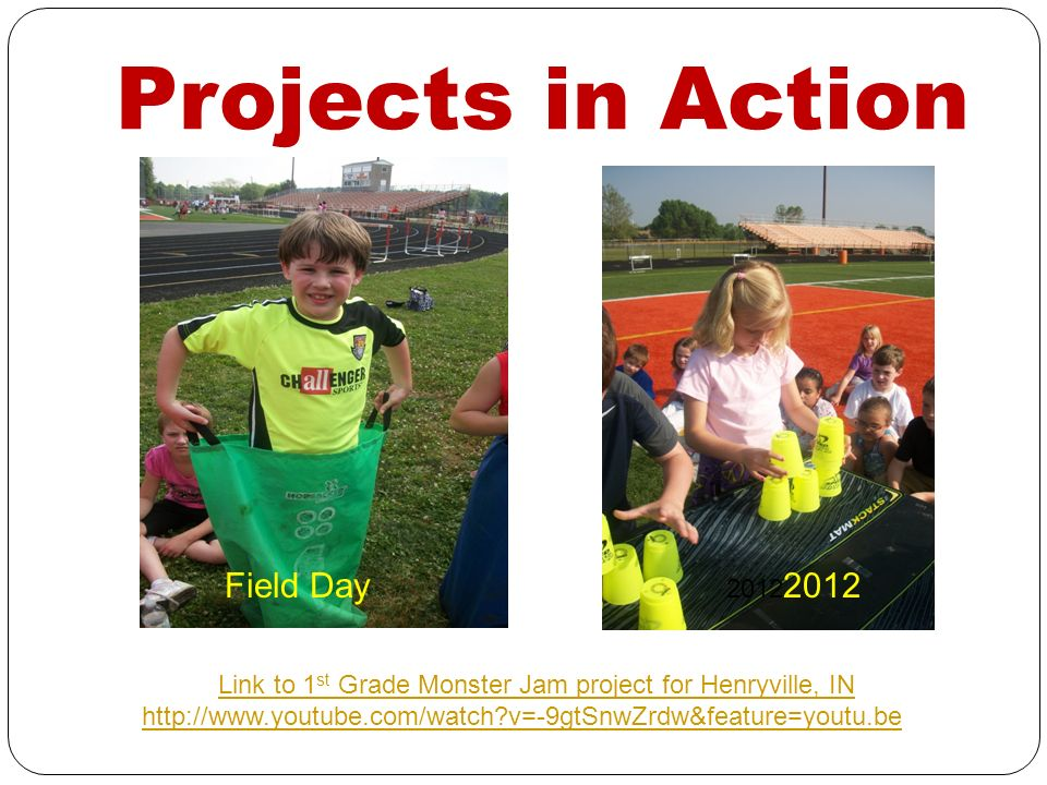 Link to 1st Grade Monster Jam project for Henryville, IN