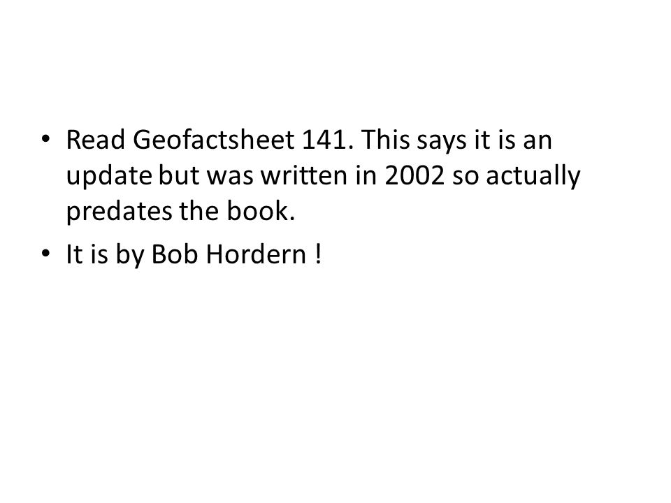 Read Geofactsheet 141. This says it is an update but was written in 2002 so actually predates the book.