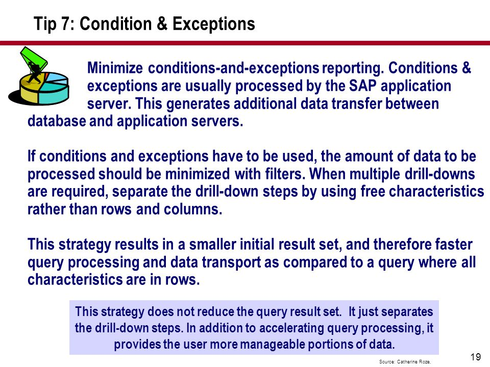Tip 7: Condition & Exceptions