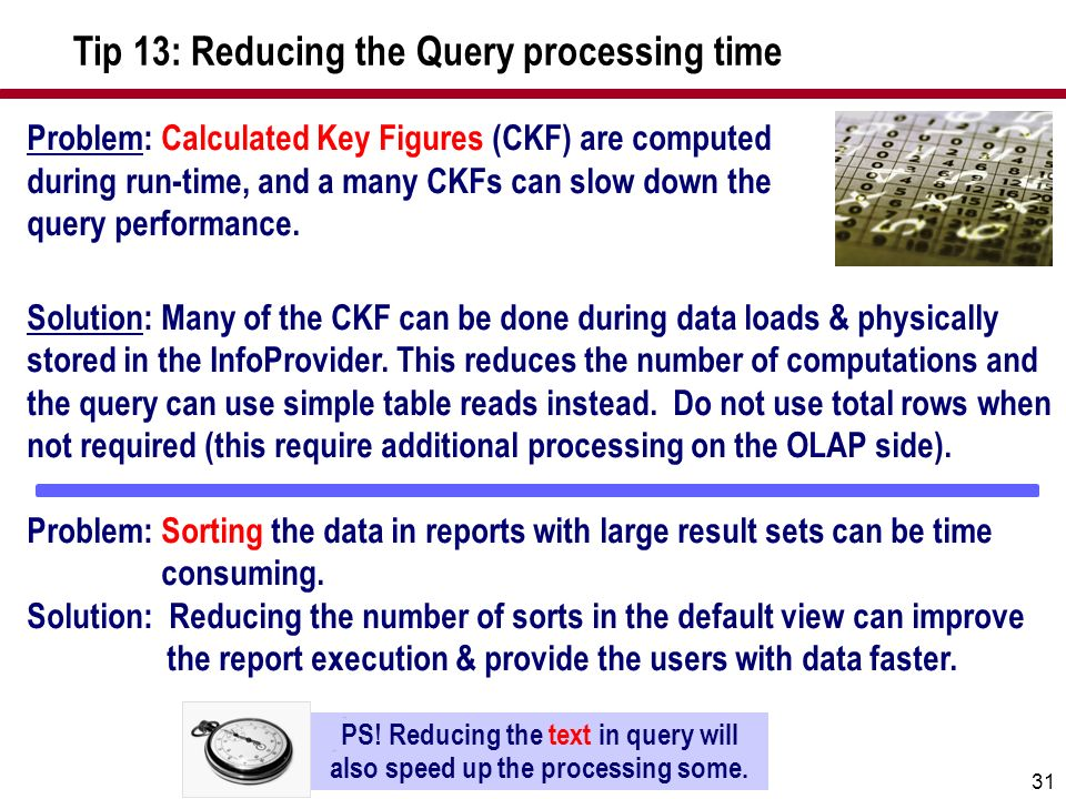 PS! Reducing the text in query will also speed up the processing some.