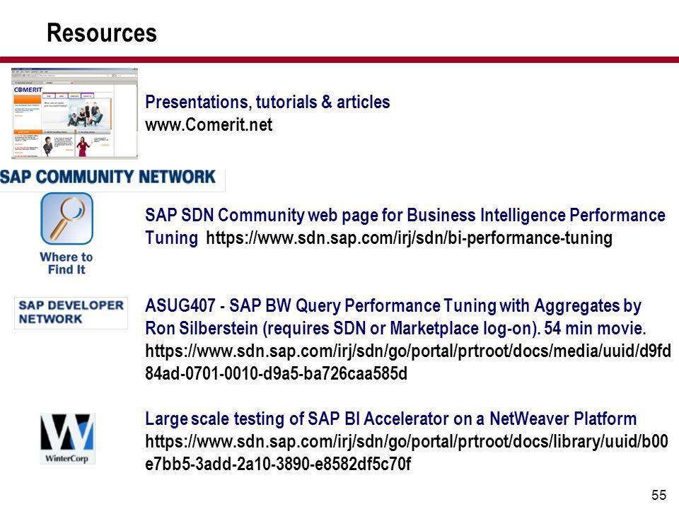 Resources Presentations, tutorials & articles www.Comerit.net