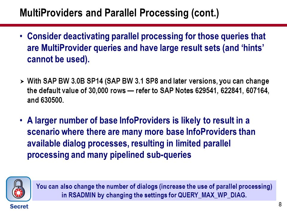 MultiProviders and Parallel Processing (cont.)