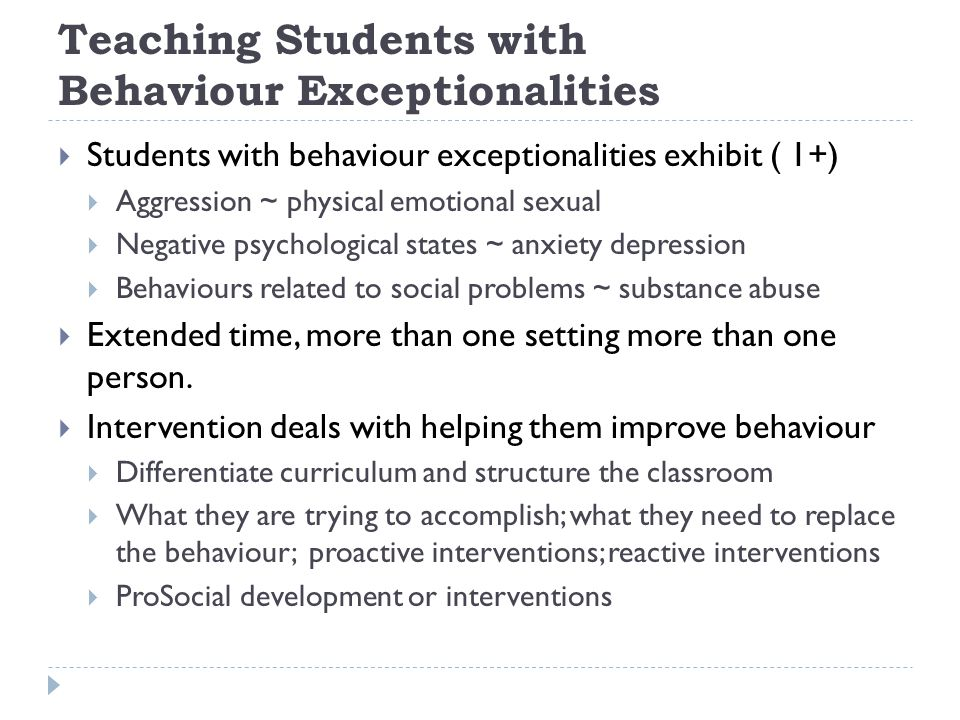 Teaching Students with Behaviour Exceptionalities