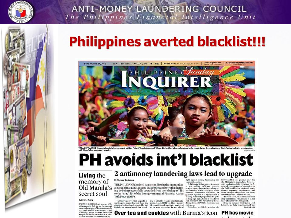 Philippines averted blacklist!!!