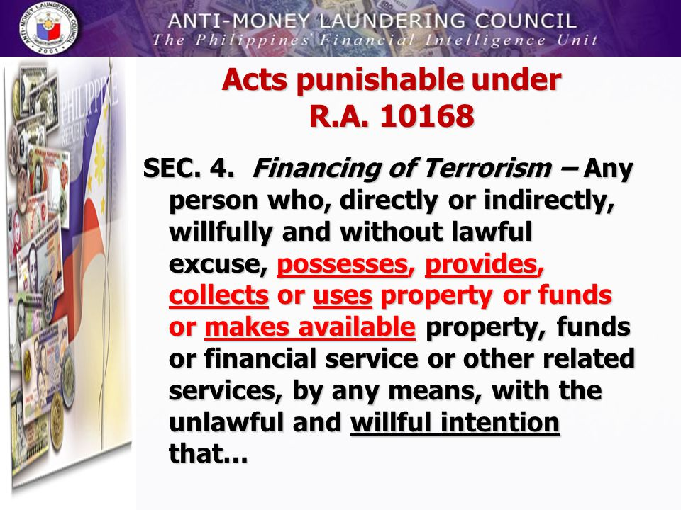 Acts punishable under R.A. 10168