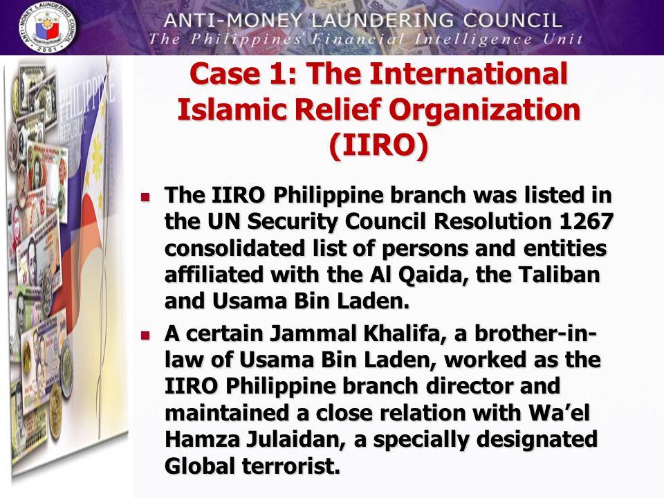 Case 1: The International Islamic Relief Organization (IIRO)