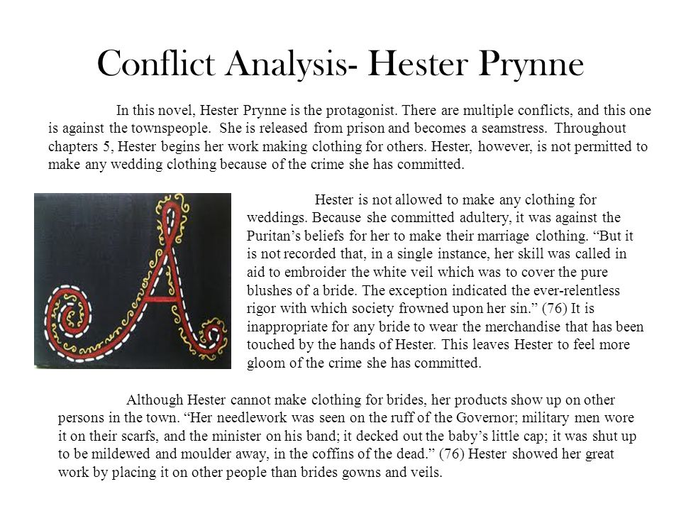 Conflict Analysis- Hester Prynne
