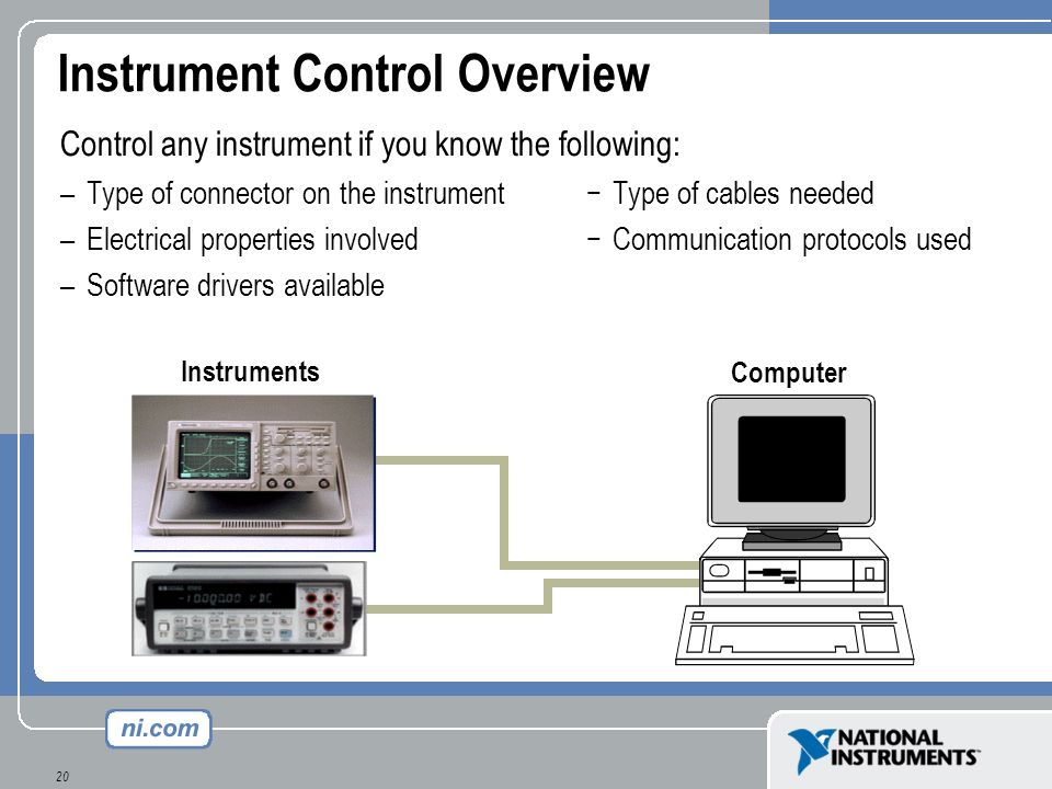 Instrument Control Overview