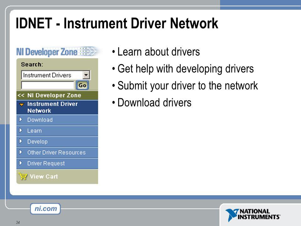 IDNET - Instrument Driver Network