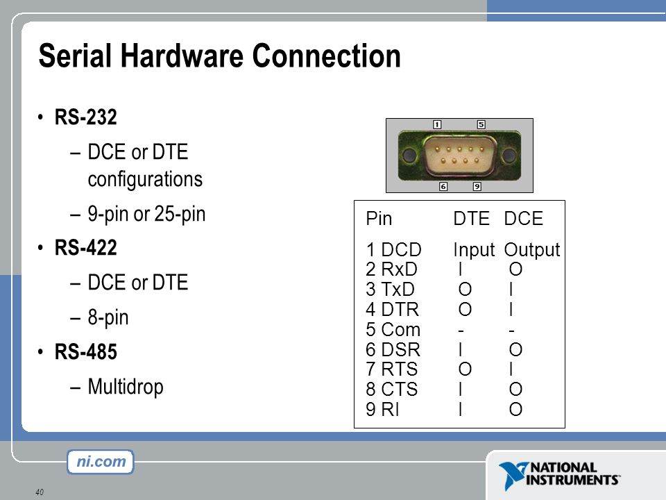 Serial Hardware Connection