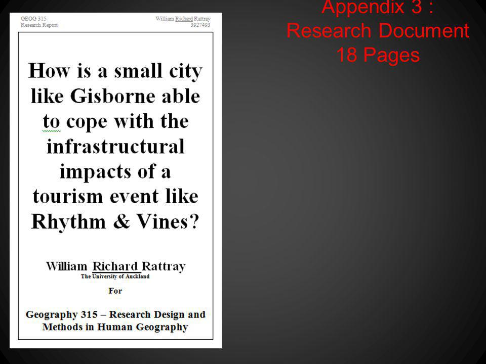 Appendix 3 : Research Document 18 Pages