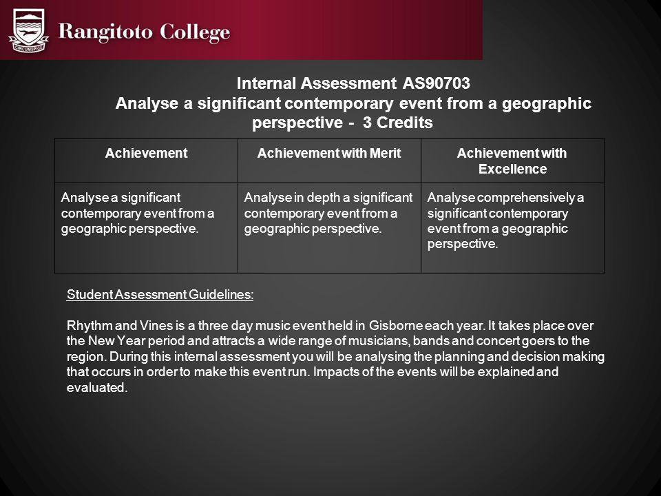 Internal Assessment AS90703